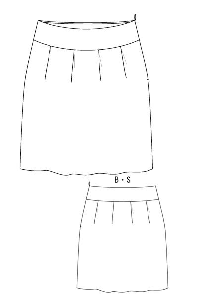 型紙通販 タックスカート パターン